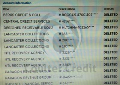 Credit Repair Results